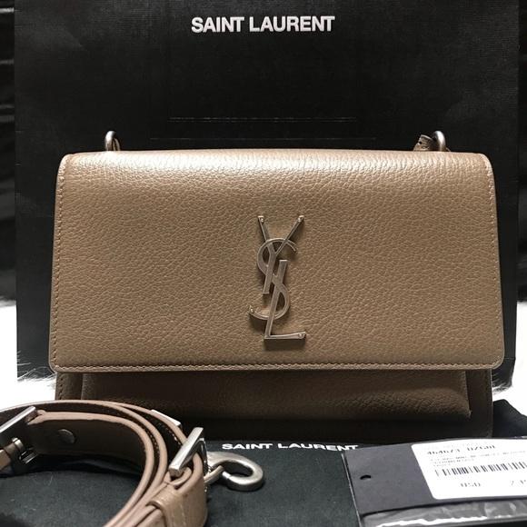 f2a9776a7a YSL Saint Laurent Leather Sunset Satchel